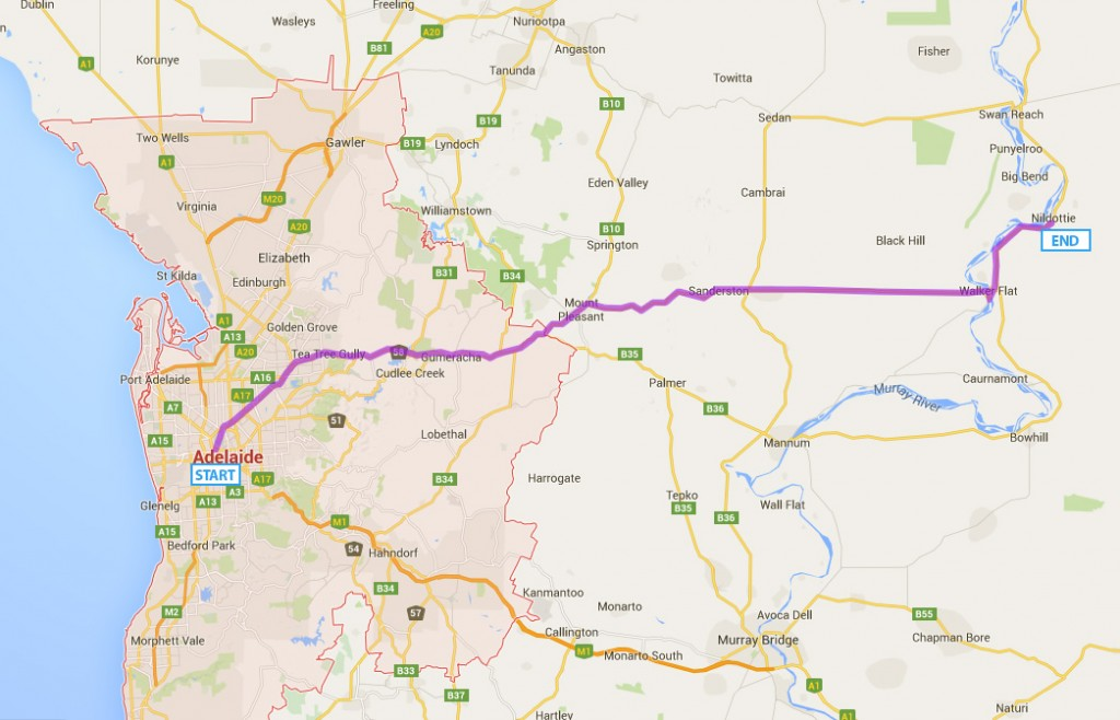 Recommended-Route-Adelaide-to-Nildottie