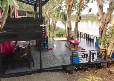River front deck