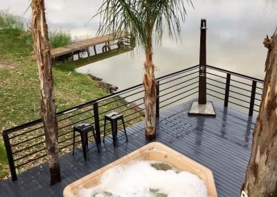 Spa outdoor shower